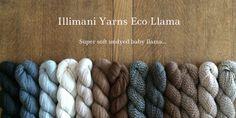 Illimani Yarns Eco Llama Ontario Cottages, Baby Llama, True North, Knitting Yarn, Merino Wool Blanket, Yarns, Pattern, Patterns, Model