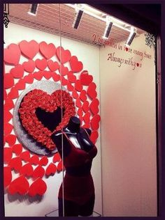 Valentine window display