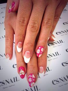 「 花柄×ピンクネイル♪ 」の画像|esネイルの毎日ネイルアート ~ネイルサロン ブログ~ AmebaGG×esNAIL ネイルカタログ|Ameba (アメーバ)