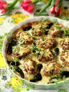 Jajka zapiekane z grzybami  smacznapyza.blogspot.com