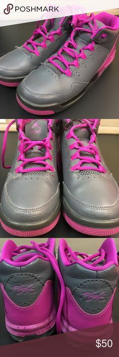 Air Jordan Sneakers Sz 7 youth Purple/Gray BNWOT New without tags size 7 youth purple/gray Nike Jordan sneakers. No wear on shoes price reflects this. Air Jordan Shoes Sneakers