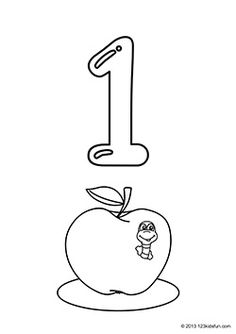 Number 1 Coloring Pages Preschoolers Pictures to Pin on Pinterest