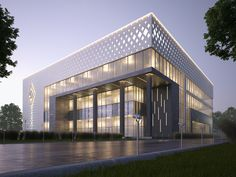 Best of Office Building Architecture Facade Designs - House & Living Factory Architecture, Office Building Architecture, Architecture Building Design, Industrial Architecture, Building Exterior, Building Facade, Concept Architecture, Residential Architecture, Building Elevation