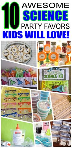 Great science party favors kids will love. Fun and cool science birthday party favor ideas for children. Easy goody bags, treat bags, gifts and more for boys and girls. Get the best science birthday party favors any child would love to take home. Loot bags, loot boxes, goodie bags, candy and more for science party celebrations.