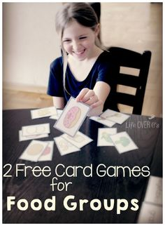 2 FREE food group card games: Teach your kids about choosing healthy foods through these two fun games! Great for kids of all ages! We played with a preschooler, grader, & graders. Nutrition Classes, Nutrition Activities, Kids Nutrition, Health And Nutrition, Preschool Activities, Nutrition Shakes, Nutrition Guide, Nutrition Education, Health Unit
