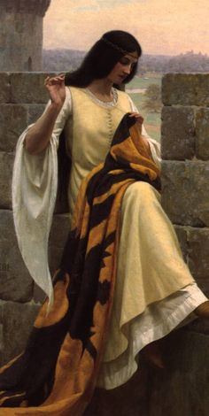 Edmund Blair Leighton, STITCHING THE STANDARD- Importance of individuality is shown in this piece of art because it shows the woman as an individual doing what she enjoys doing, sewing.