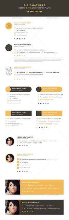 E-Signatures - Modern E-mail Signature Templates Confira dicas, táticas e ferramentas para E-mail Marketing no Blog Estratégia Digital aqui em http://www.estrategiadigital.pt/category/e-mail-marketing/