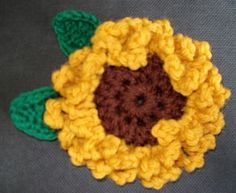 Crochetted Sunflower
