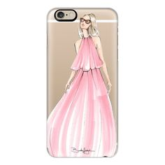 iPhone 6 Plus/6/5/5s/5c Case - Charlotte-Fashion Illustration-Brooklit ($40) ❤ liked on Polyvore featuring accessories, tech accessories, iphone case, apple iphone cases, iphone cover case and slim iphone case