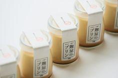 * Kojiya pudding packaging by Daikoku Design Institute Yogurt Packaging, Dessert Packaging, Craft Packaging, Candle Packaging, Bottle Packaging, Pretty Packaging, Packaging Ideas, Logo Dulce, Japanese Packaging
