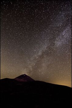 Night sky at El Teide, Tenerife, Canary Islands. Mehr