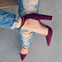 Point Toe Ankle Strap Chunky Sandals