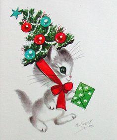 by Marjorie M. Cooper. Christmas Kitten