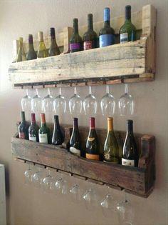 Étagères à vin en palettes...