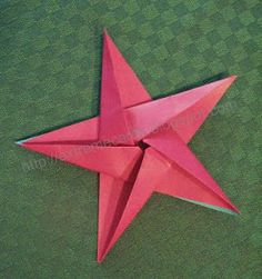 ~Learn to make a 5 pointed oragami star  Ez to follow pictured instructions =)