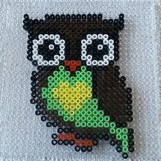Owl hama beads by
