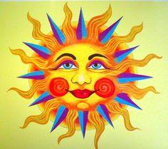 Best ideas tattoo moon and sun la luna trees Sun Painting, Mandalas Painting, Mandalas Drawing, Sun Moon Stars, Sun And Stars, Pictures Of The Sun, Sun Illustration, Sun Logo, Good Morning Sunshine