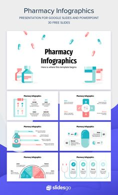 Infographic Powerpoint, Powerpoint Tips, Microsoft Powerpoint, Creative Powerpoint, Powerpoint Design Templates, Presentation Design Template, Powerpoint Template Free, Power Points, Pharmacists