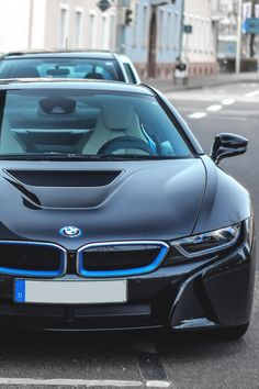 BMW i8 | Blue | Black | iSeries | BMW | Dream Car | Dream BMW | BMW | Bimmer | sports car | Schomp BMW