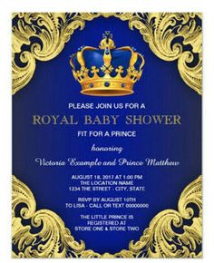 royalty baby shower baby shower