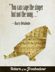 Return of the Troubadour Harry Belafonte, Change The World, Competition, Singing, Songs, Song Books