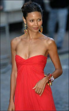 Thandie Newton. A typical modern-day Hollywood figure. Thin, gym-hardened and without any womanly curves - bar the suspiciously generous breasts.