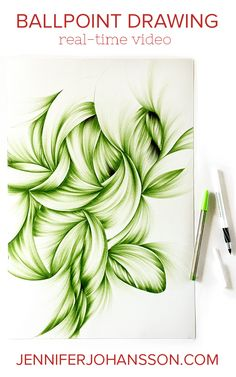 Click thru to see a video of artist Jennifer Johansson drawing with ballpoint.