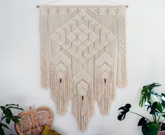 A personal favourite from my Etsy shop https://www.etsy.com/au/listing/466111440/macrame-wall-hanging-moondust