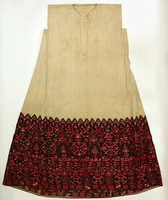 19th C Greek, cotton & silk