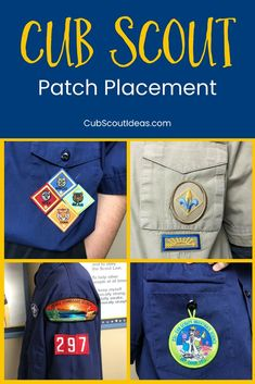 Where do all those Cub Scout patches go? This ultimate guide to Cub Scout patch placement will show you exactly where to put the patches. Simple diagrams show where to display the Cub Scout badges. Whether you're sewing on the patches or putting them on with Badge Magic, you can be sure they are located in just the right place. via @CubIdeas