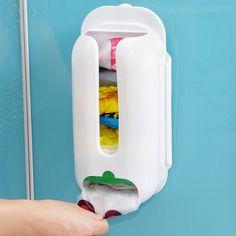 Úteis para casa Wall Mount Plástico Saco de Transporte de Contentores de…