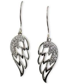 Diamond Angel Wing Earrings (1/5 ct. t.w.) in 10k White Gold