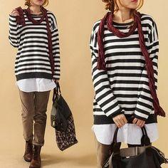 3color Sailor's striped shirt  Cotton shirt  von prettyforest22, $66.00