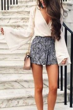 50 adorable summer outfits classy shorts outfits, classy summer out Summer Outfits Women 20s, Classy Summer Outfits, Summer Fashion Outfits, Night Outfits, Outfits For Teens, Summer Dresses, Fashion Spring, Classy Shorts Outfits, Summer Shorts Outfits