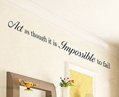 Dailinming PVC Wall Stickers English proverb Impossible personality living room home decor businessWallpaper914cm x76cmOrange *** You can find more details by visiting the image link.