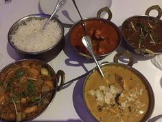 Chicken korma, butter chicken, prawn massarla, lamb curry, Delish Deli Diner