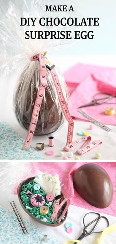 Make a Chocolate Surprise Egg : The Etsy Blog --- pp: Use this tutorial to make your own oversized chocolate egg, ready to fill with delightful surprises.
