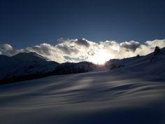 Tramonto invernale dal colle del Lazzarà, Val germanasca alpi cozie Piemonte