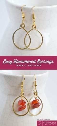 Craftaholics Anonymous® | Everyone loves a good pair of DIY earings. Make a great gift, and are art to the ears.