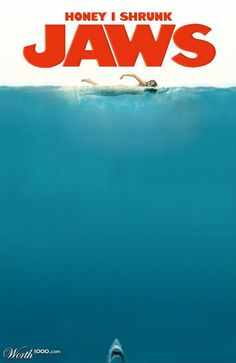 """<b>In no particular order, here are 25 examples of spoofs, parodies, and other homages to the iconic <i>Jaws</i> movie poster.</b> Okay, it's no <a href=""""http://go.redirectingat.com?id=74679X1524629&sref=https%3A%2F%2Fwww.buzzfeed.com%2Fchrismenning%2F25-awesome-spoofs-of-the-jaws-movie-post&url=http%3A%2F%2Fwww.imdb.com%2Ftitle%2Ftt0149261%2F&xcust=1116288%7CBFLITE&xs=1"""" target=""""_blank""""><i>Deep Blue Sea</i></a>, but nothing is."""