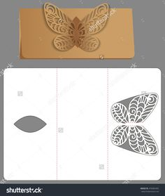 Paper Template. Invitation And Greeting Card With Abstract Butterfly. Pattern For The Laser Cut. Стоковая векторная иллюстрация 476983492 : Shutterstock
