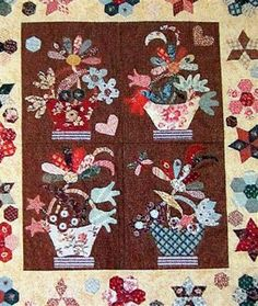 the English basket quilt detail