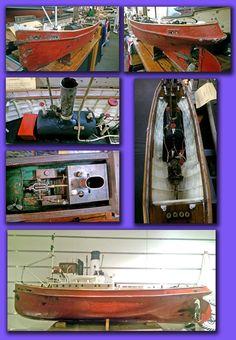 TUG SEAGULL LIVE STEAM MODEL BUILT IN 1935 BY JOHN LAIDLAW