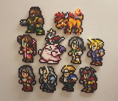 Become the hero this world needs with these Final Fantasy 7 awesome bead sprites. Click the Add to Cart button now, storm the Northern Cave, and put Sephiroths sinister plan to an end. Grab your own set of heroes now, in any combination you like! Place them on your locker, your fridge, hang