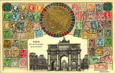 """Ansichtskarte """"Prägung Republique Francaise, Ansicht des Arc de Triomphe de la Victoire"""", nicht gelaufen    Dealer  Leininger Auktionshaus    Auction  Minimum Bid:  5.00EUR"""