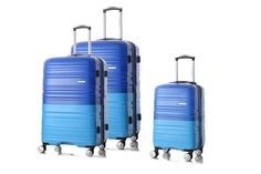 HONCARDO Hard-shell Luggage, Blue 20'', 24''and 28'', On 360 Spinner Wheels
