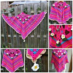 Color splash shawl