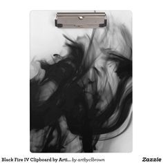 "Stay organized, and stunningly stylish, with artist-designed clipboards from Zazzle! The Black Fire IV Clipboard designed by Artist C.L. Brown features fire photography converted to black and white. Design turns a basic school or work supply into a stunning accessory fit to keep you organized. Designed for letter and A4 sized paper this clipboard holds up to 0.5 inches of paper securely and is printed on both sides. Dimensions: 12.5""l x 9""w; thickness: 0.125""."