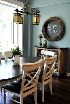 Easter chalkboard wreath sign how to....love it..