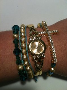 Set of 4 Watch and Arm Candy Bracelets  by SimplyEdgyDesigns, $35.00